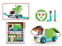 2.4G R/C Diy Sanitation Car 2Ways toys