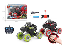 1:12 Good Quality 2.4G Remote Control Stunt Car Both Watch and Normal Controller