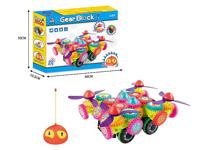 R/C Four Axle Building Block Car toys
