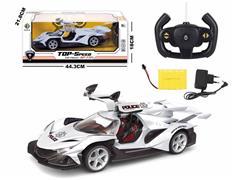 1:14 R/C Police Car 5Ways W/L_Charge toys