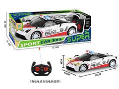 1:14 R/C Police Car 4Way W/L(2C) toys