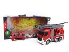 2.4G 1:24 R/C Sprinkler Fire Engine 7Ways W/L_Charge toys