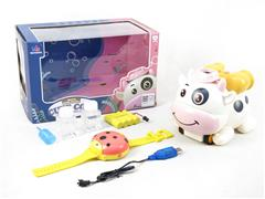 R/C Bubble Cow W/Charge toys