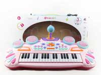 Electronic musical keyboard instrument piano toy for kids with microphone