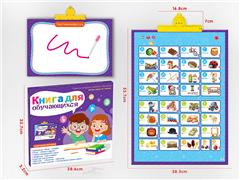 13in1 Russian Audio Wall Chart Point Reading Learning Machine toys