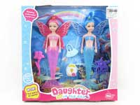 19.5cm Mermaid Set W/L(2in1)