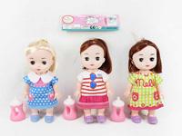 10inch Doll Set W/L_M(3S) toys