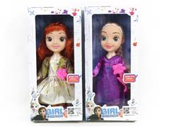 9inch Doll Set W/L_M(2S) toys