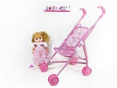 16inch Doll W/IC & Go-Cart toys