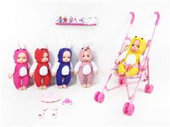 10inch Doll W/IC & Go-Cart toys