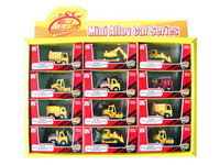 Die Cast Construction Truck Pull Back(12in1)