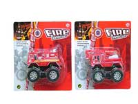 Pull Back Fire Engine Car(2S)
