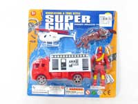 Pull Back Fire Engine Set(2styles)
