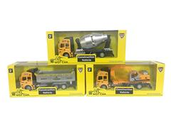 Metal Pull Back Construction Truck(3S)