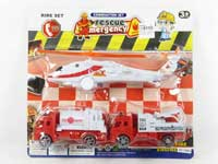 Pull Back Fire Engine & Pull Line Plane