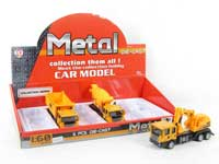 Metal Pull Back Construction Truck(6pcs)