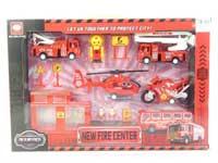 Pull Back Fire Engine Set(4S)