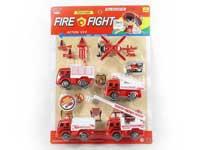 Pull Back Fire Engine Set