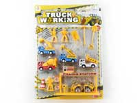 Pull Back Construction Truck Set(4in1)