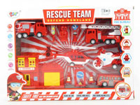 Pull Back Fire Engine Set