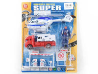 Pull Back Fire Engine & Pull Line Plane Set(2in1)