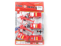 Pull Back Fire Engine & Pull Back Helicopter(6in1)