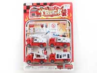 Pull Back Fire Engine Set(4in1)(2styels)