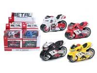 Die Cast Motorcycle Pull Back(12in1)