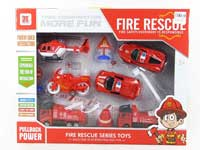 Pull Back Fire Engine Set(6in1)