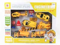 Pull Back Construction Truck Set(6in1)