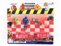 Pull Back Fire Engine Set(2in1)