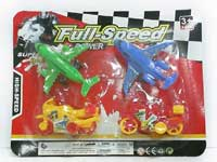 Pull Back Airplane & Motorcycle(4in1)