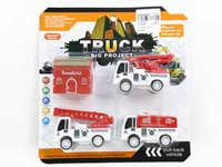 Pull Back Fire Engine Set(3in1)