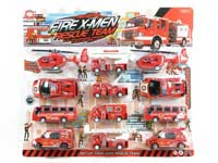 Pull Back Fire Engine(12in1)
