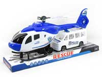 Pull Back Helicopter & Free Wheel Police Car