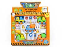 Pull Back Construction Truck Set(5in1)