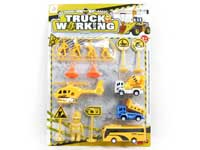 Pull Back Construction Truck Set(2S)