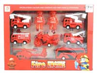 Pull Back Fire Engine Set(7in1)