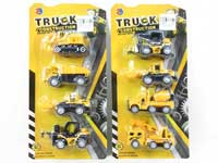 1:55 Metal Pull Back Construction Truck(4in1)