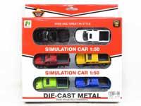 1:50 Metal Pull Back Car(6in1)