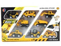 1:55 Metal Pull Back Construction Truck(8in1)