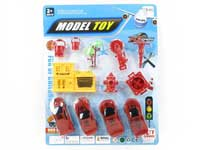 Pull Back Fire Engine Set(4in1)