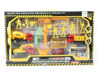 Pull Back Construction Truck Set