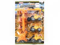 Pull Back Construction Truck Set(3in1)