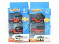Metal Pull Back Fire Engine(2in1)