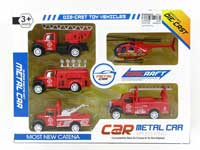 Metal Pull Back Fire Engine(5in1)