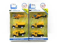Die Cast Construction Truck Pull Back(3in1)