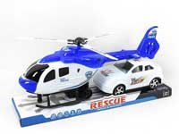 Pull Back Helicopter & Free Wheel Car(2in1)
