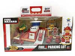 Pull Back Fire Engine Set W/L_S