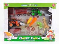 Pull Back Farm Truck Set